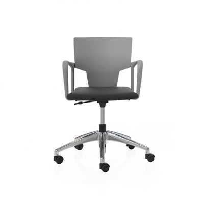 silla zoom gris negro