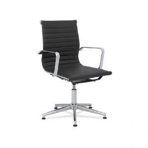 sillón AG2 piel negro