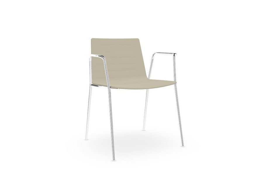Sillón Flex Chair Beig Cromo
