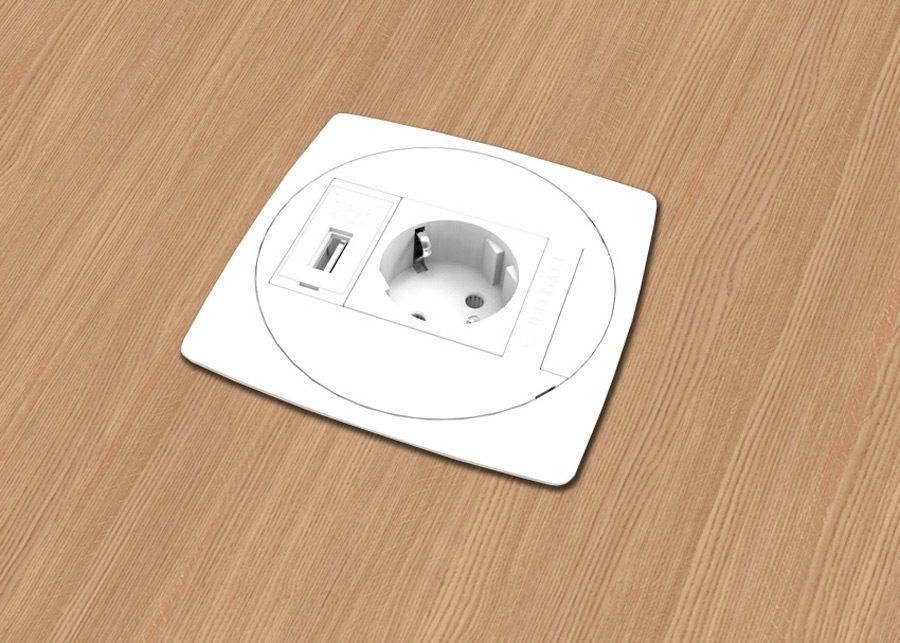 Unit Toma eléctrica + USB